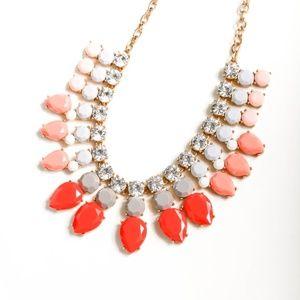 JCREW color stone statement necklace
